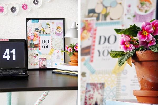 DIY, Schreibtisch, Moodboard, Wohnen mit Farben