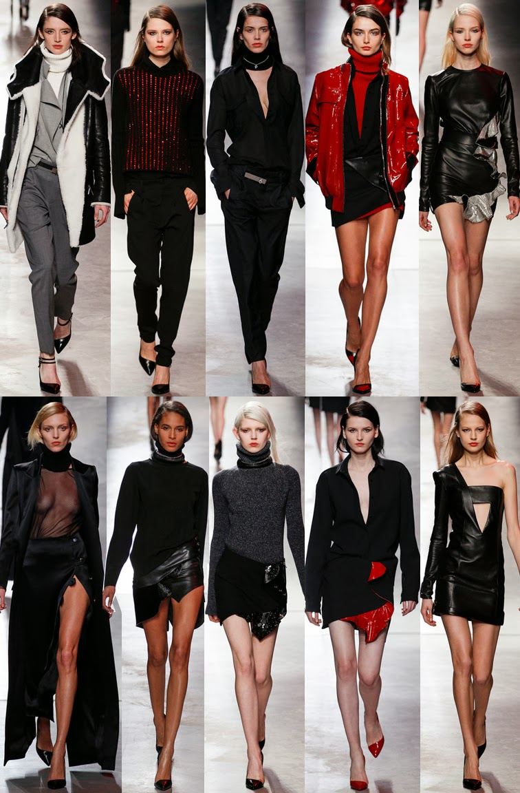 Anthony Vaccarello fall winter 2014 runway collection, PFW, Paris fashion week, FW14, AW14