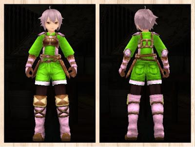 レザーアーマー ピンク1+蛍光緑3 男