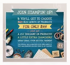 Join Stampin' Up by March 31, 2014 ~ Receive $150 worth of products for $99