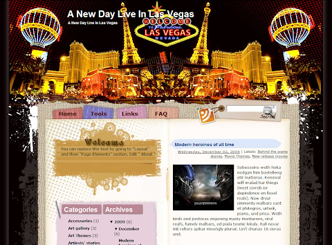 A New Day Live in Las Vegas Blogger Theme