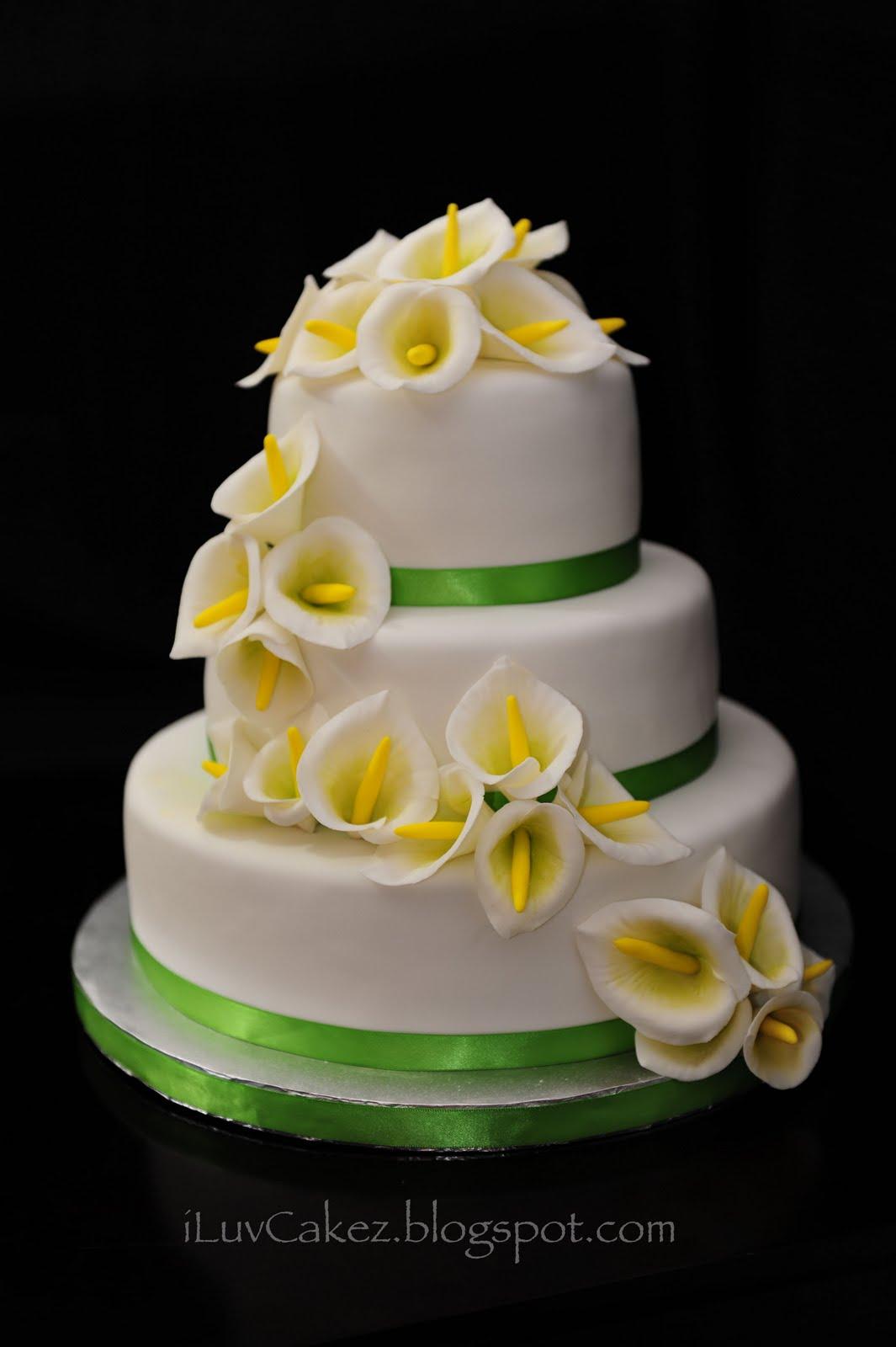 iLuv Cakez Calla Lily Wedding Cake Daniel & Susan