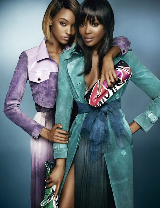 Naomi Campbell and Jourdan Dunn star in Burberry Spring 2015 Campaign