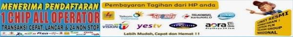 Pengisian pulsa All Operator (GSM dan CDMA), Token PLN, Voucher Game Online dan PPOB
