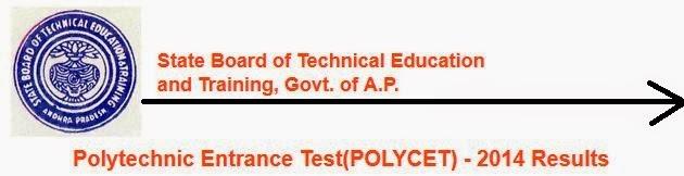 PolyCET 2014 Results Andhra Pradesh