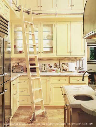 Cream Kitchen With Ladder Track System