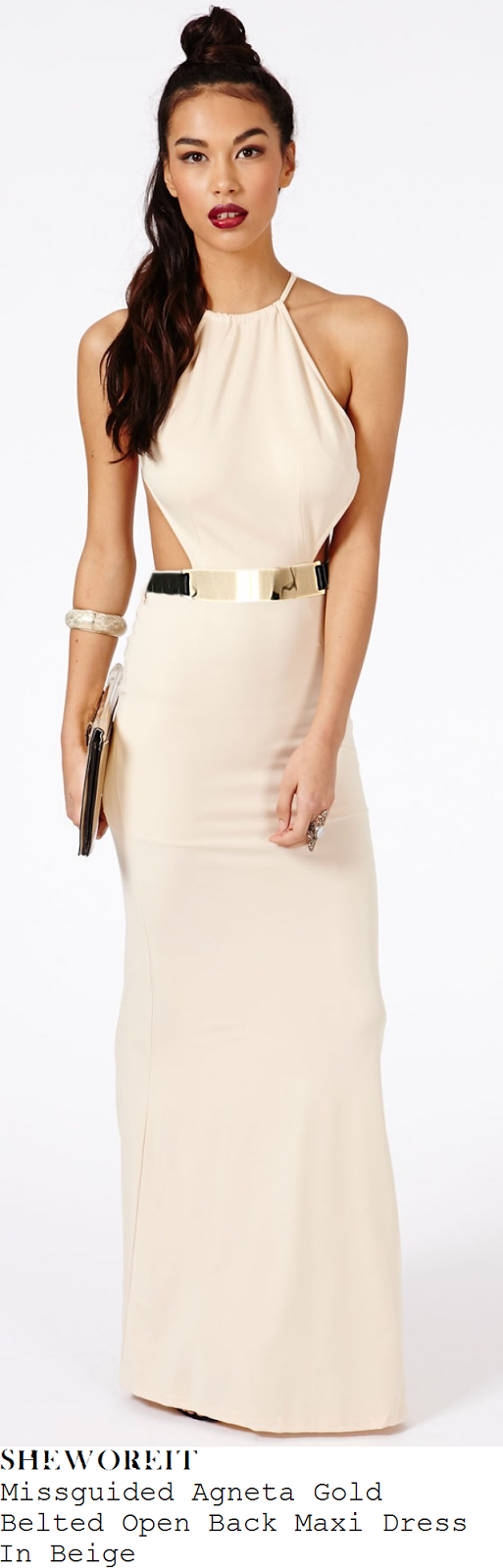tamera-foster-cream-white-beige-sleeveless-open-back-maxi-dress-hello-magazine
