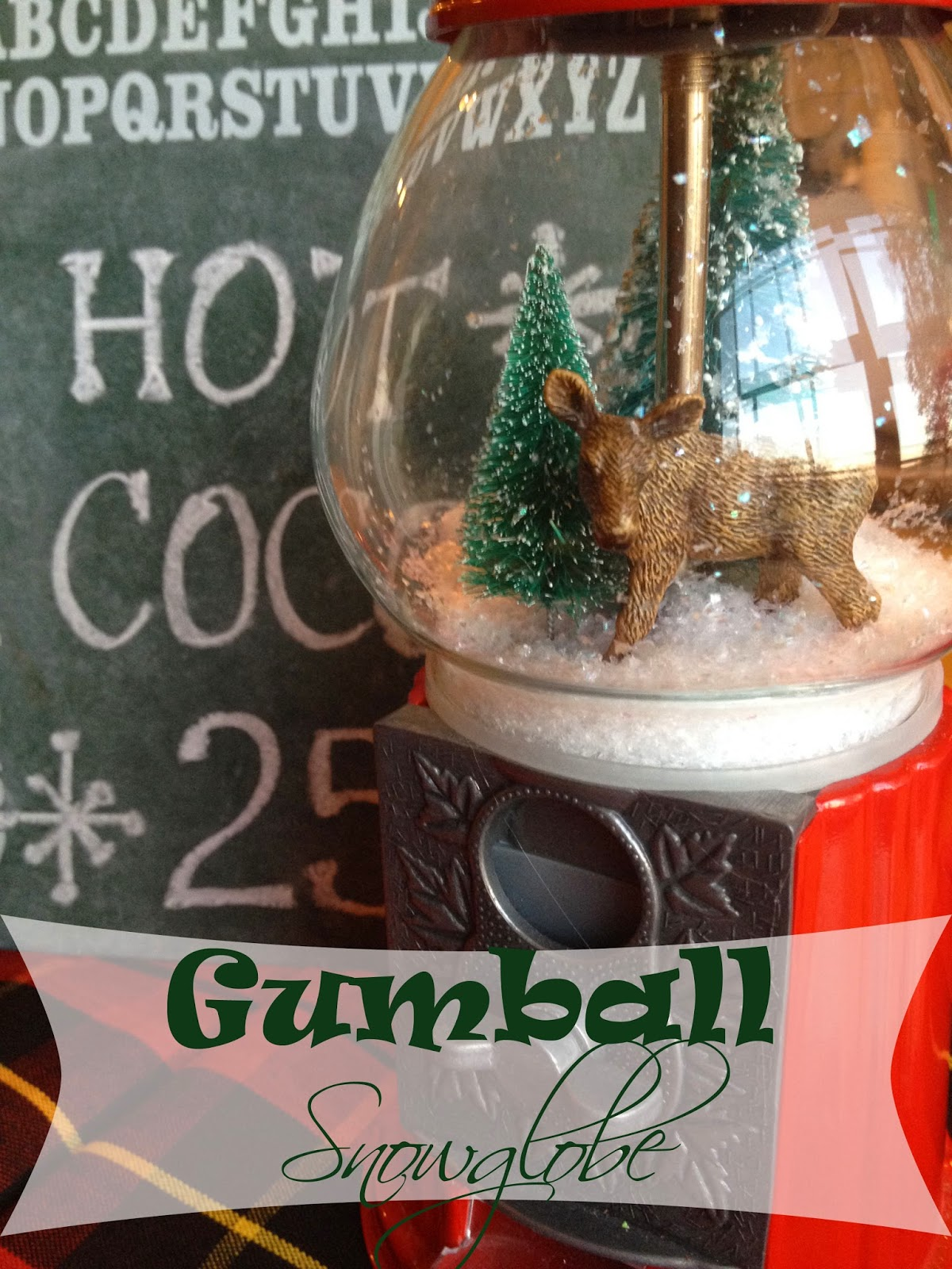 gumball machine snow globe, the altered past blog