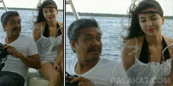 Manohara Odelia Pinot tampaknya sedang menikmati liburannya di sebuah ...