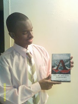 Carlos Jr.& his 1st. published book ...