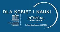 """Logo programu L'Oréal """"Dla kobiet i nauki"""""""