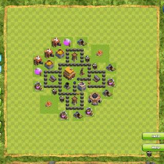 Base Clan War TH4 4