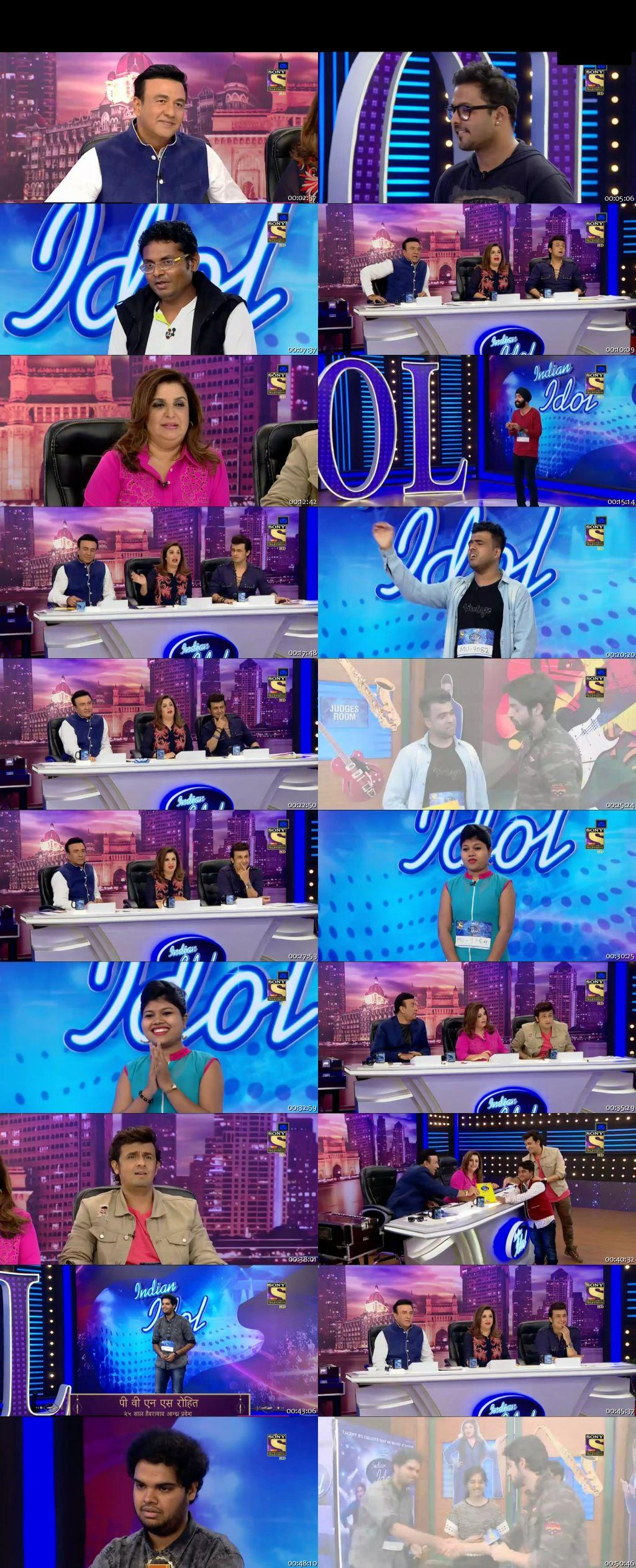 Screenshots Of Hindi Show Indian Idol 25th December 2016 Episode 02 300MB 480P HD