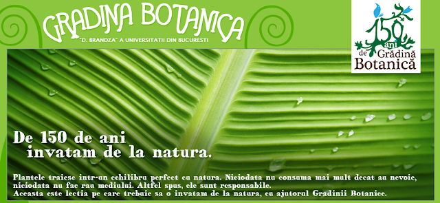 mesaj gradina botanica bucuresti