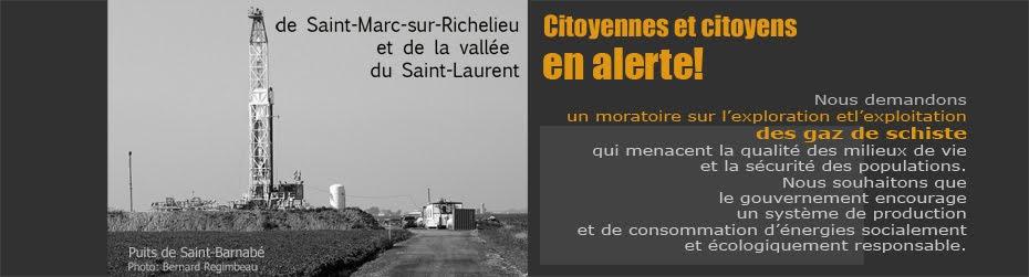 Citoyennes et citoyens  de Saint-Marc-sur-Richelieu et de la vallée du Saint-Laurent en alerte