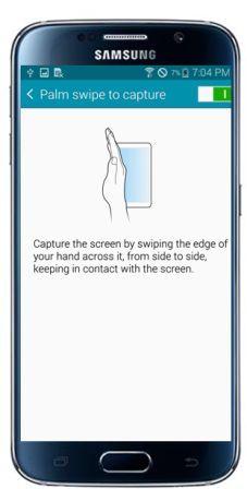 Cara Screenshot Layar Samsung Galaxy S6 dengan Mengusap layar