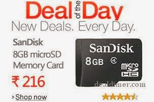 SanDisk 8GB PenDrive from Rs. 211, MicroSD 8GB from Rs. 213, 16GB Rs. 385