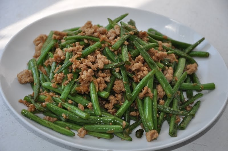 Slice of Rice: Dry-Fried Green Beans (Gan Bian Si Ji Dou)