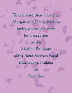 Examples and Templates Wedding Reception Only Invitation Wording