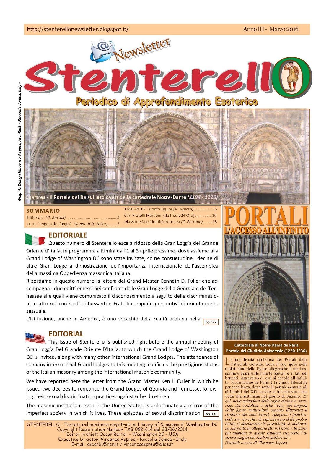 Stenterello Anno III - Marzo 2016