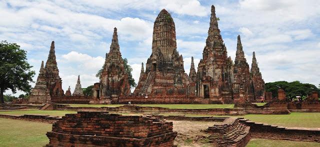 Antigua ciudad de Ayuttahaya en Tailandia