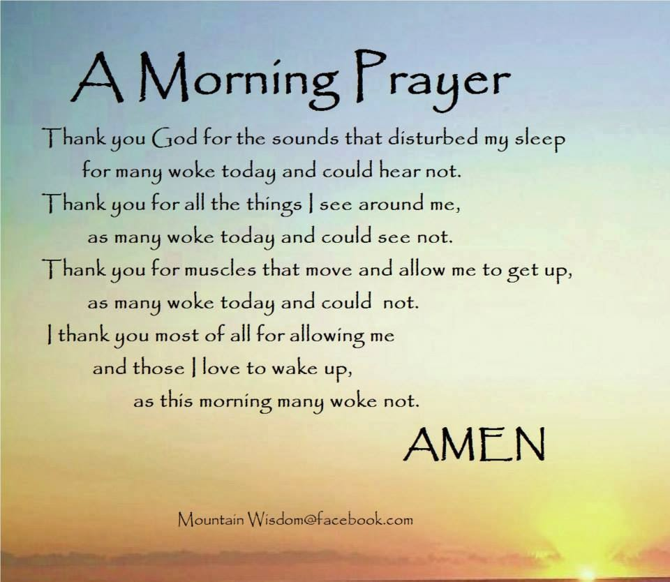 Image Gallery morning prayer