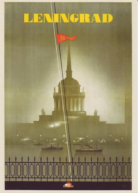 1935 Cartel Soviético de Turismo Vintage, Leningrado