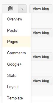 Menu Laman Blogspot