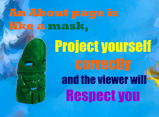 An aboutpage is like a mask, project yourself correctly and the viewer will respect you
