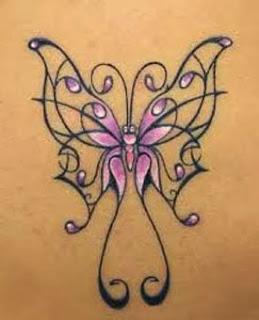 Tatuagens de borboletas na virilha