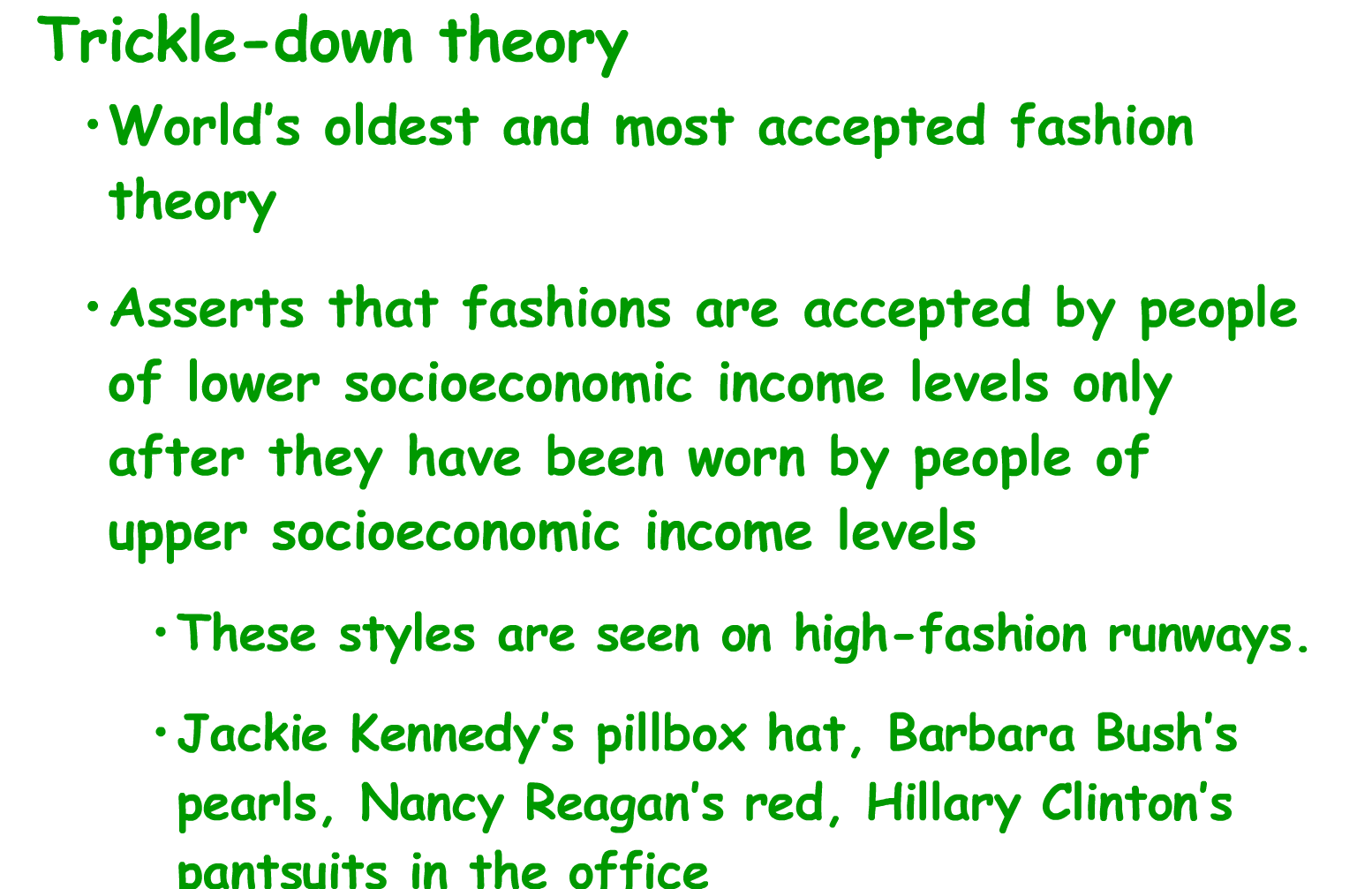 Fashion Culture, social control and social change. - Sociology Trickle down theory fashion simmel
