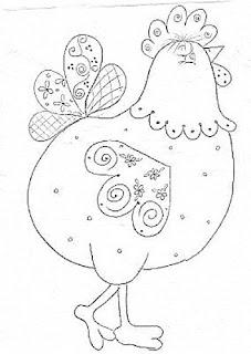 molde de galinha para patchaplique