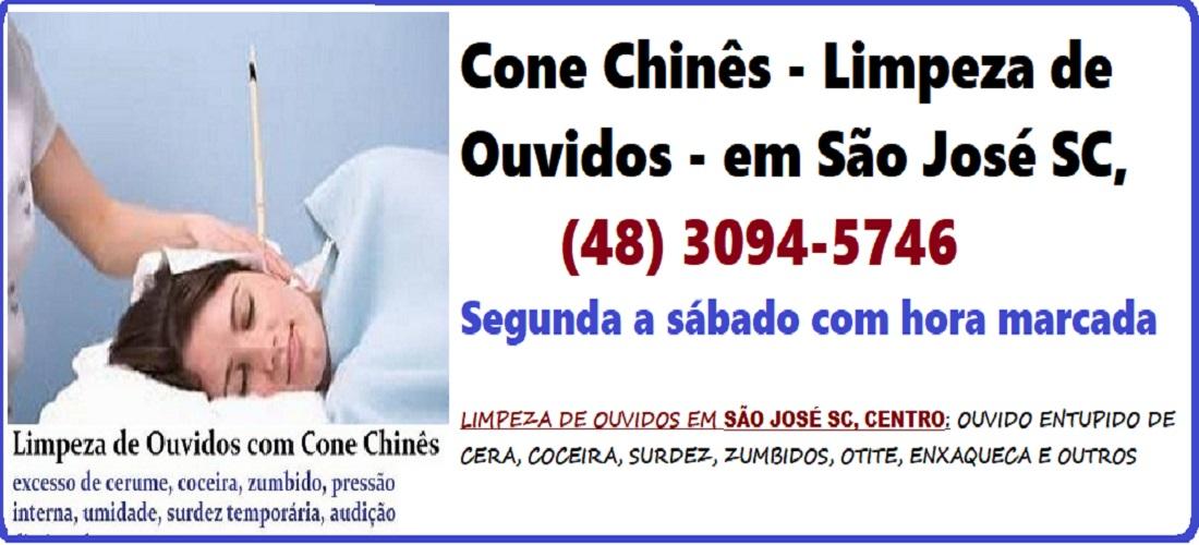 Limpeza  e desobstrução de ouvidos com cone chinês em São José (SC)