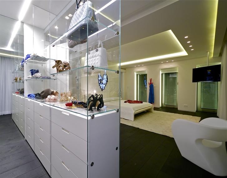 Transparent modern closet