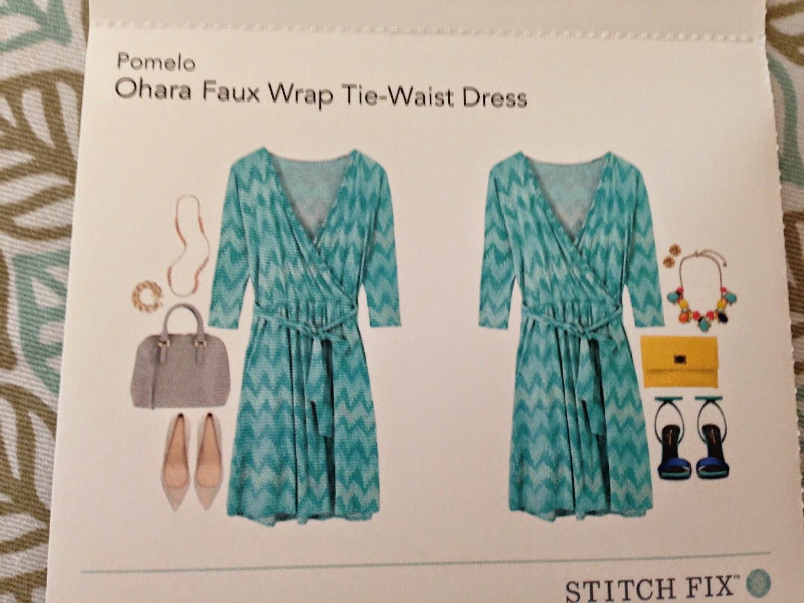 Stitchfix, Ohara Faux Wrap Tie Waist Dress