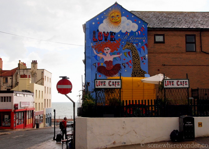 Love Cafe at St-Leonards-on-Sea, England