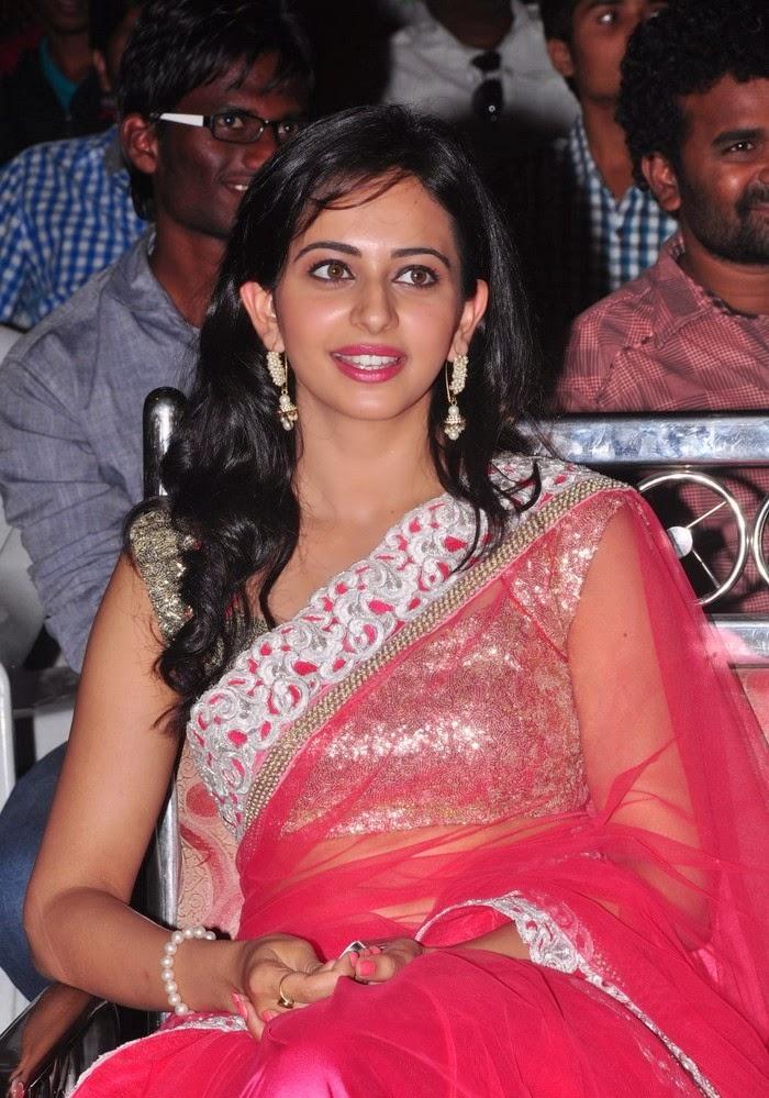 Rakul Preet Singh :Rakul Preet Singh in pink saree hot underwear visible pics hd xxxx pics