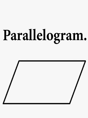 Parallelogram two pairs of parallel sides printable geometry profiles drawings school coloring words