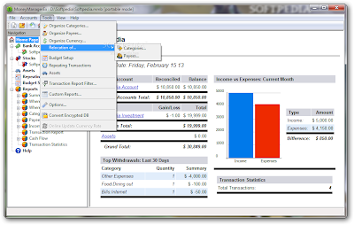 Free Money Management Software MS Windows | Portable Money Manager Ex