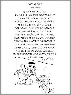 CAMALEÃO - Texto para leitura