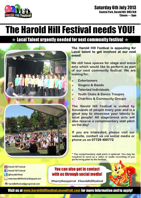 Local talent required for Harold Hill Festival 2013