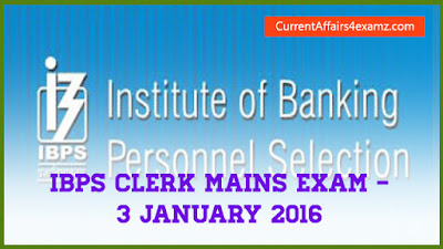 IBPS Clerk Exam 3 January 2016