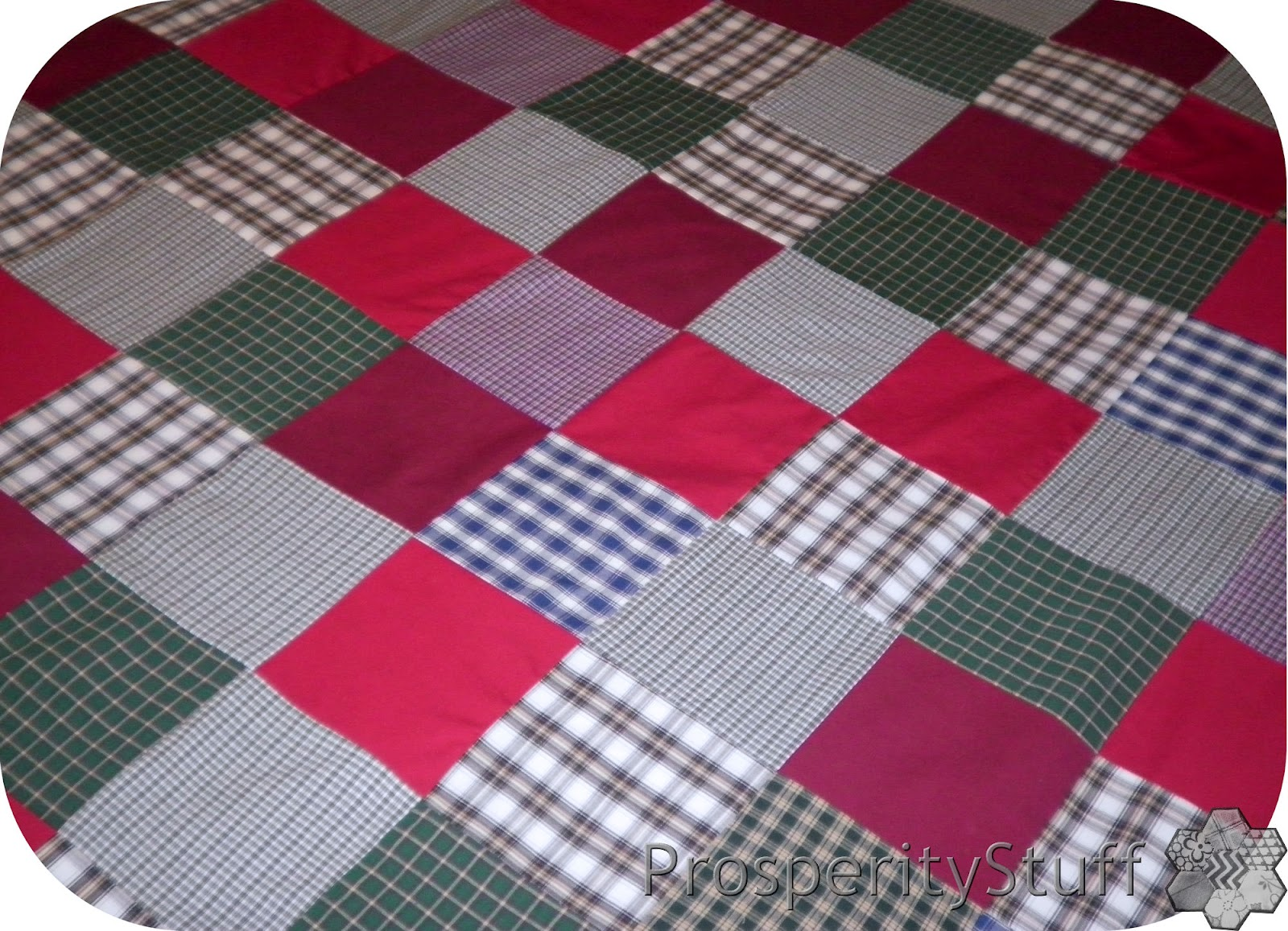 Quilt Patterns For Homespun Fabric : ProsperityStuff Quilts: Homespun Plaids & Reds