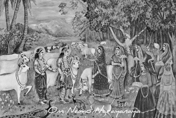 கண்ணன் கதைகள் (46) -  அந்தணப் பெண்களை அனுக்ரஹித்தல்,கண்ணன் கதைகள், குருவாயூரப்பன் கதைகள்,