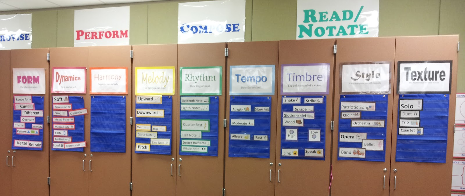 Music Classroom Wall Decorations ~ Mrs q s music word wall
