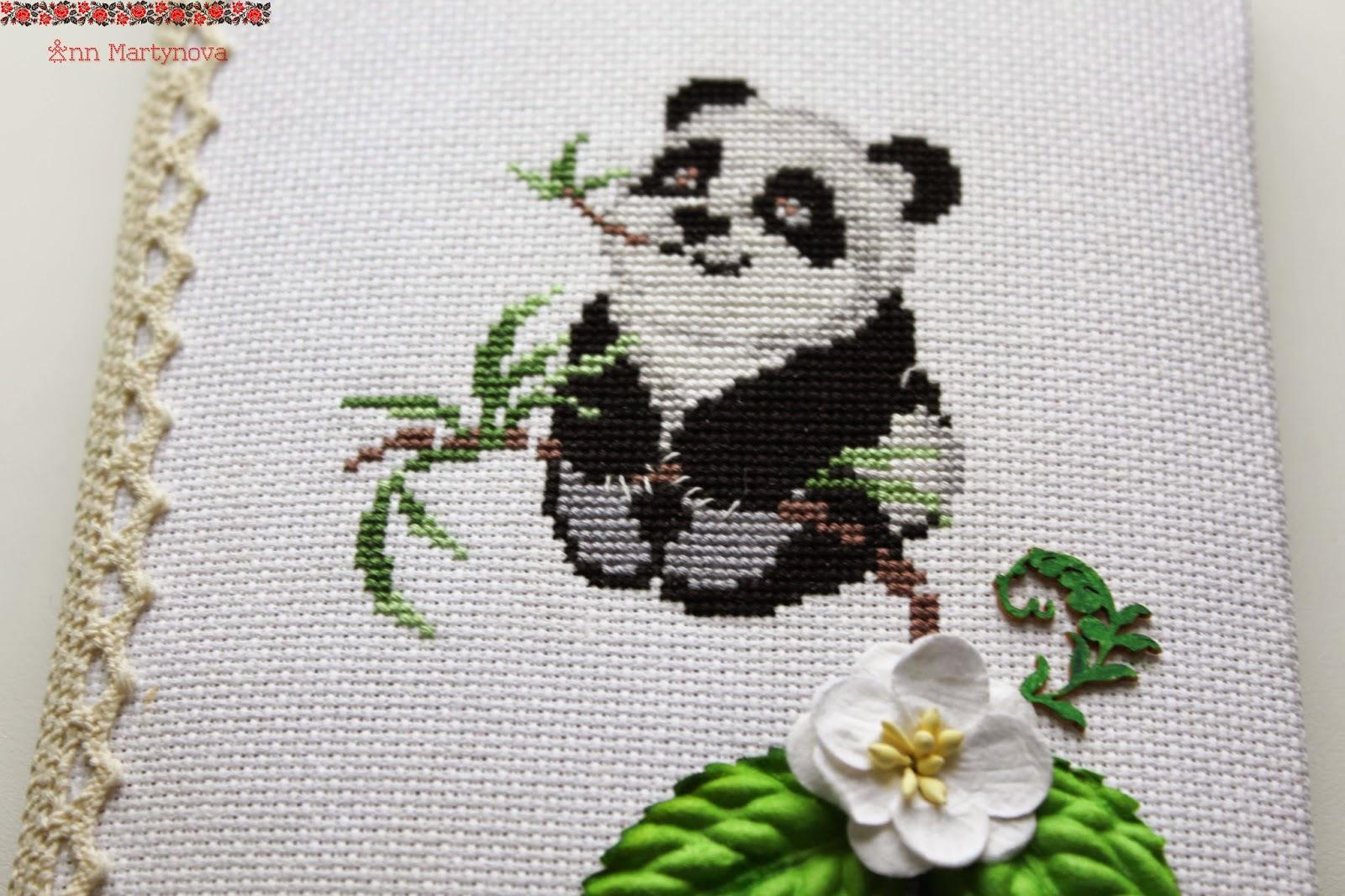 панда вышивка крестом схемы
