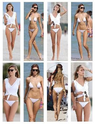 Maryna Linchuk White Bikini Miami