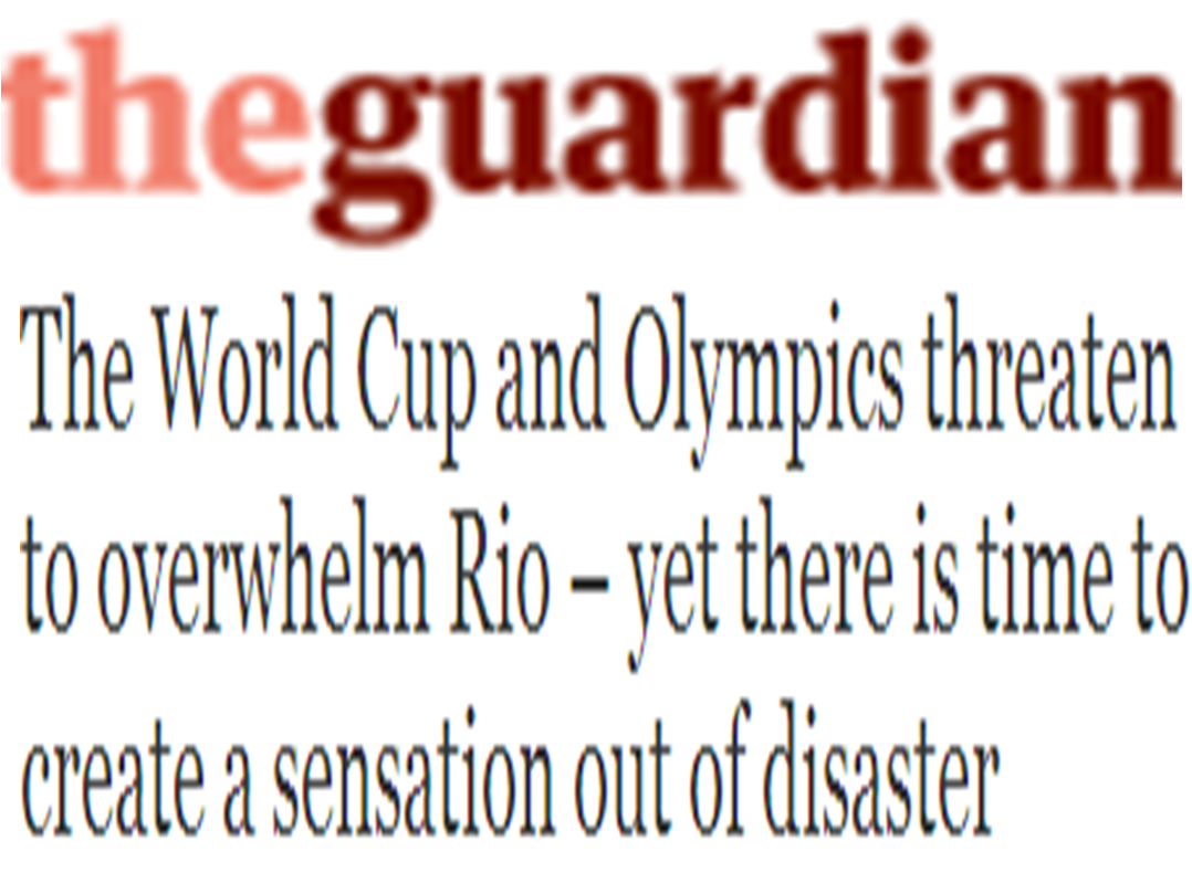 THE GUARDIAN, THE CUP AND THE OLYMPICS