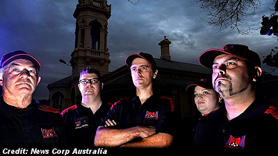 Members of Victorian UFO Action - Mike Hodges, Paul Dean, Ben Hurle, Amy Kay and Ivan Rigoni