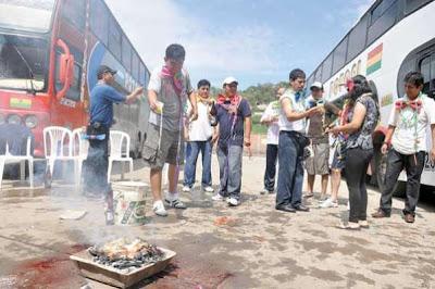 Martes de Ch'alla en Bolivia